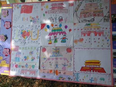 洪殿中心幼儿园《我爱祖国妈妈》幼儿绘画展